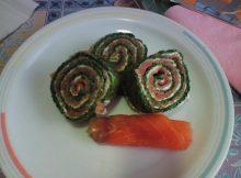 recetas navidad brazo de espinacas y salmón