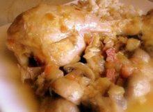 recetas navidad pollo con setas y bacon