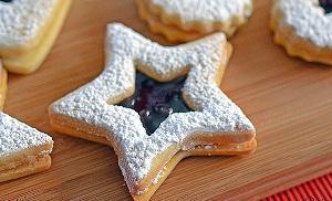 recetas navidad Spitzbuben estrella